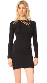 Pam  amp  Gela Asymmetrical Lace Up Dress at Shopbop