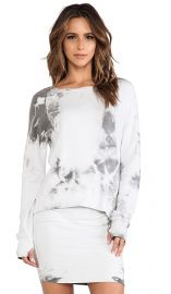 Pam and Gela Hi-Lo Sweatshirt in Tie Dye Grey  REVOLVE at Revolve