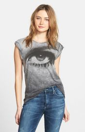 Pam andamp Gela and39Frankieand39 Cap Sleeve Print Tee at Nordstrom