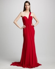 Pamella Roland One Shoulder Gown at Neiman Marcus
