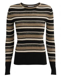 Panel Striped Ribbed Top at Intermix