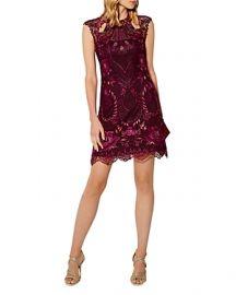 Paneled Lace Cutout Mini Dress at Bloomingdales