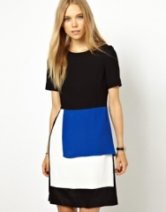 Panelled Wool Dress by Peter Jensen at Asos