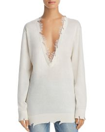 Pao Lace-Trimmed Sweater Iro Jeans at Bloomingdales