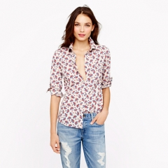 Papaya paisley shirt at J. Crew