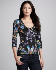 Paradise Print Top by Just Cavalli at Neiman Marcus