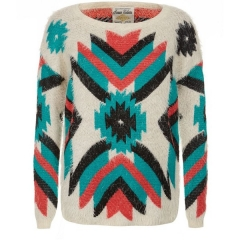 Parisian Aztec Jumper at New Look