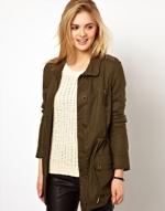 Parka jacket by Mango at Asos