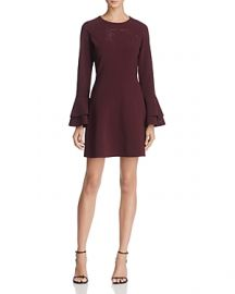 Parker Orlando Bell-Sleeve Mini Dress in Raisin at Bloomingdales