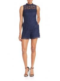 Parker - Dori Lace Short Jumpsuit at Saks Off 5th