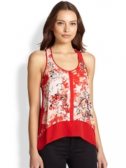 Parker - Embry Floral Silk Tank at Saks Fifth Avenue
