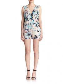 Parker - North Floral-Print Silk Short Jumpsuit at Saks Fifth Avenue