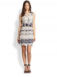 Parker - Suri Silk Faux-Wrap Dress at Saks Fifth Avenue