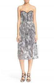 Parker  Azalea  Palm Lace Midi Length Dress at Nordstrom