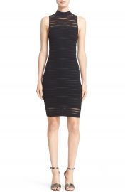 Parker  Gemma  Shadow Stripe Ribbed Knit Body-Con Dress at Nordstrom