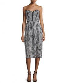 Parker Azalea Sweetheart-Neck Strapless Dress  Black White at Neiman Marcus