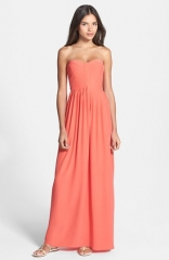 Parker Bayou Strapless Silk Maxi Dress at Nordstrom