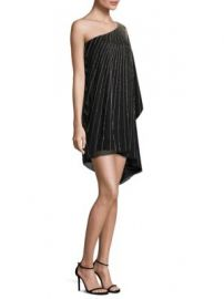 Parker Black - Daphine Silk One-Shoulder Dress at Saks Fifth Avenue