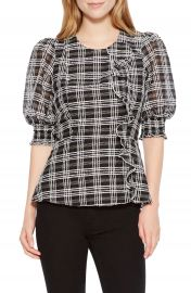 Parker Calli Check Blouse at Nordstrom