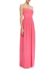 Parker Cosmopolitan Strapless Bustier Maxi Dress at Neiman Marcus
