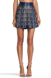 Parker Filomena Leather Skirt at Revolve