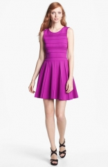 Parker Lacey Stretch Fit andamp Flare Dress at Nordstrom