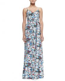 Parker Niko StripedFloral-Print Maxi Dress at Neiman Marcus