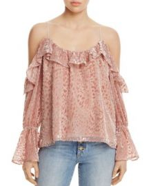 Parker Renzo Cold-Shoulder Top - 100  Exclusive at Bloomingdales