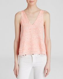 Parker Tank - Alejandra Crackle Print Silk at Bloomingdales