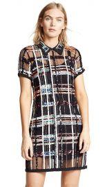 Parker Women s Grayson Short Sleeve Collared Plaid Sequin Mini Dress at Amazon