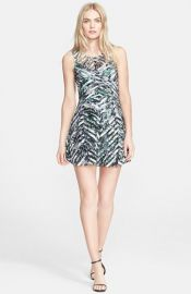Parker and39Mirabellaand39 Fit andamp Flare Minidress at Nordstrom