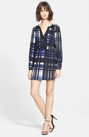 Parker and39Ravaand39 Print Silk Dress at Nordstrom