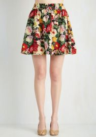 Parlez Vous Bouquet Skirt at ModCloth