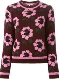 Parosh Floral Pattern Sweater - Shuga Palace at Farfetch