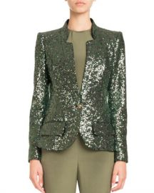 Pascal Millet Single-Breasted Tailored Sequin Jacket at Neiman Marcus