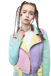 Pastel Moto Jacket at Sugarpills