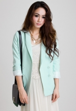 Pastel blazer from Chicwish at Chicwish