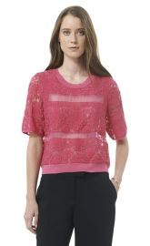 Patch Lace Top at Rebecca Taylor