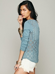 Patches of Lace Henley at Free People