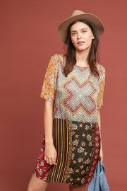 Patchwork Tunic Dress at Anthropologie