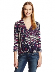 Patchwork print top by Lucky Brand at Amazon