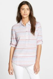 Patriotic Stripe Popover Top at Nordstrom Rack