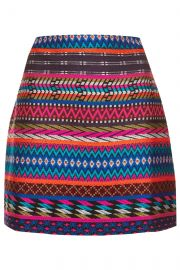 Patterned Blanket A-Line Skirt at Topshop