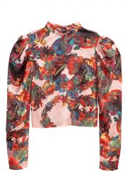 Patterned Satin Blouse by H&M at H&M