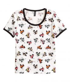 Patterned T-shirt in Rollerskate Print at H&M