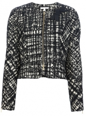 Paule Ka Cropped Printed Jacket - Sn3 at Farfetch