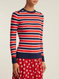 Peachskin striped cotton-blend sweater at Matches
