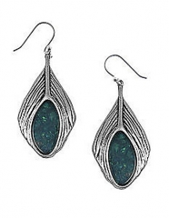 Peacock feather earrings by Lucky Brand at Lord & Taylor