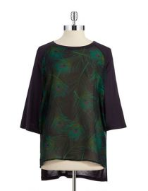 Peacock feather print tunic by MICHAEL Michael Kors at Lord & Taylor