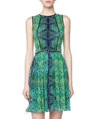 Peacock print dress by Cynthia Steffe at Last Call